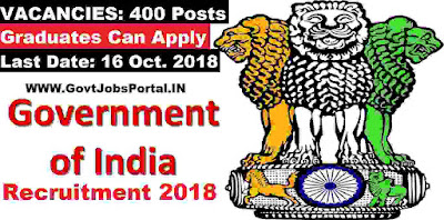 Government of India Recruitment 2018