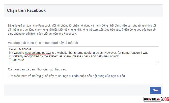 Cách Mở Khóa Tên Miền Khi Bị Facebook Chặn Chia Sẻ Link 4