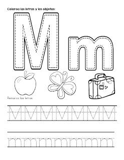 Trazos del abecedario letra M