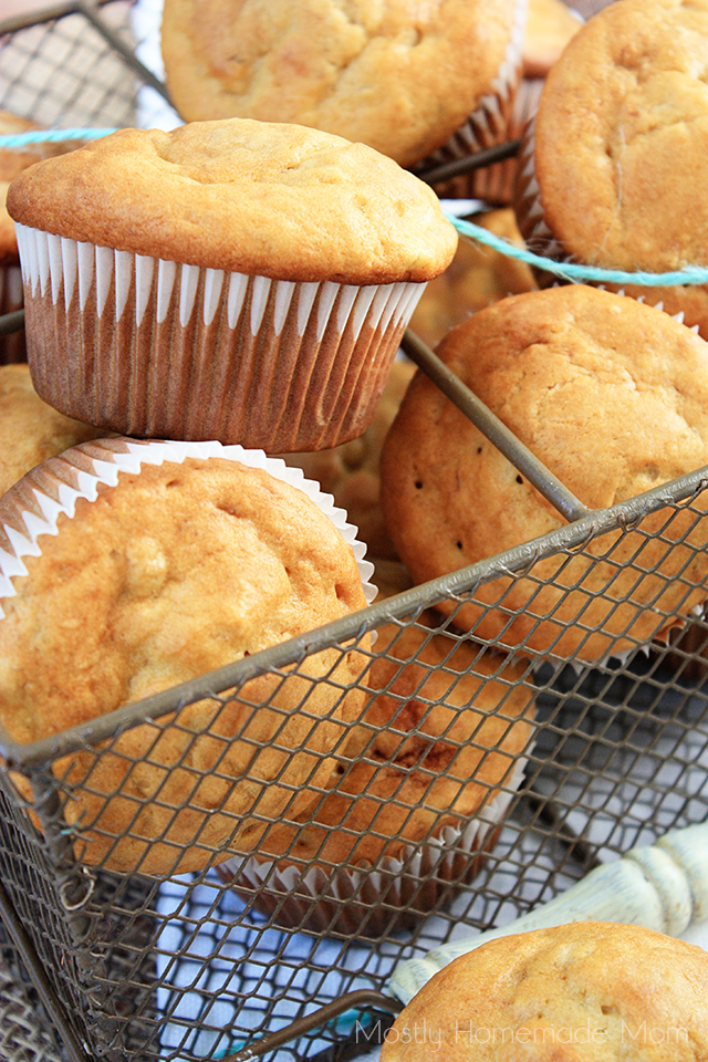 Peanut Butter Banana Muffins | Mostly Homemade Mom