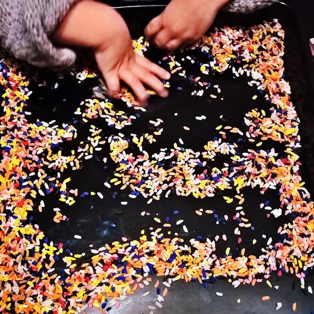 creare riso colorato