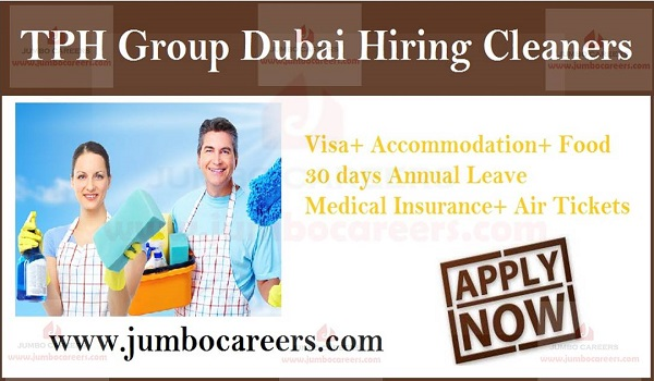 TPH Group Dubai Hiring Cleaners | Cleaner Jobs UAE with Free Visa