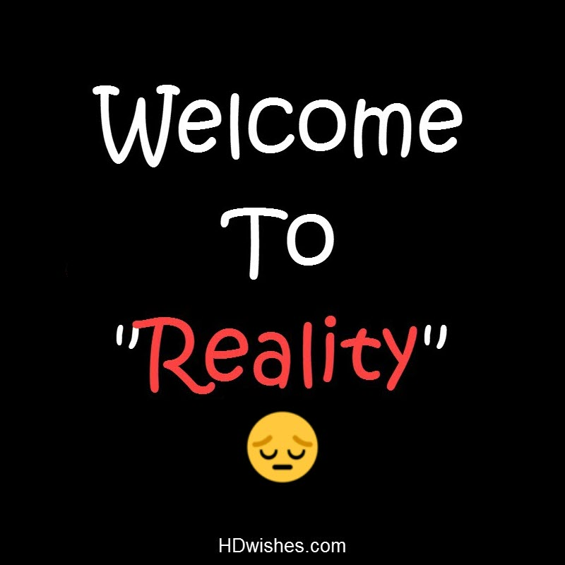 Welcome To Reality Black DP