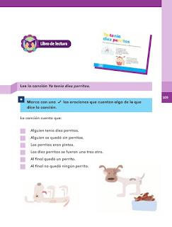 Apoyo Primaria Español 1er grado Bimestre 3 lección 15 Los diez perritos