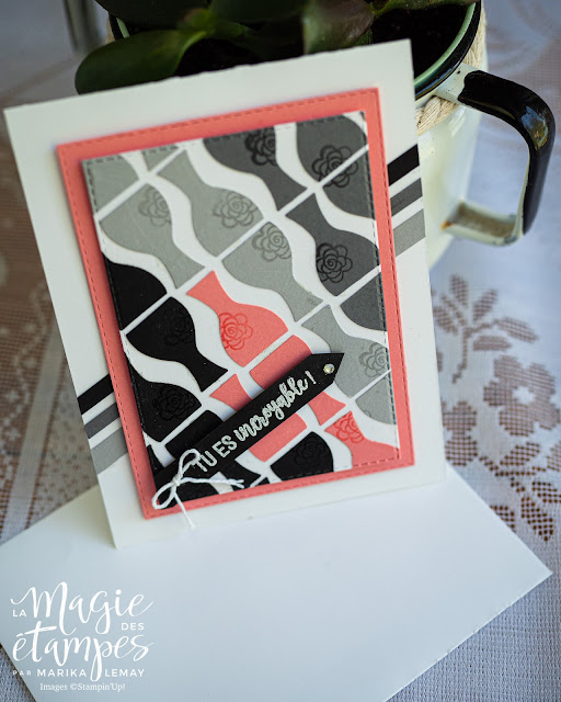 carte utilisant la perforatrice Vase Stampin' Up!