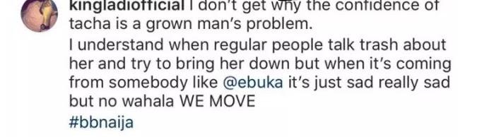 #Bbnaija: Tacha's Alleged Boyfriend Blasts Ebuka Over Last Night Question - See post Here