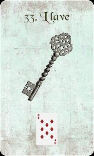 carta de lenormand 33 llave