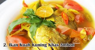 Ikan Kuah Kuning Khas Ambon merupakan salah satu makanan khas Nusantara yang wajib ada saat Natal