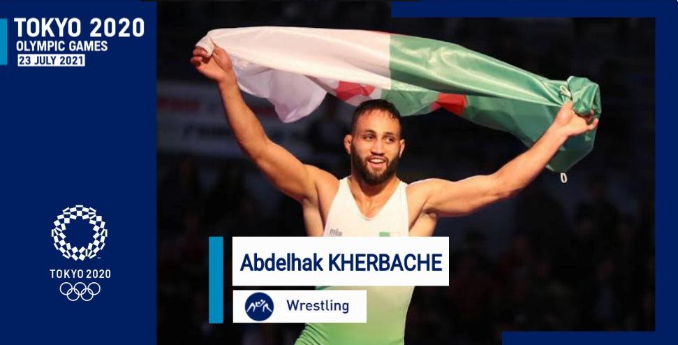 المصارع الجزائري خرباش عبد الحق يتأهل إلى أولمبياد طوكيو 2021