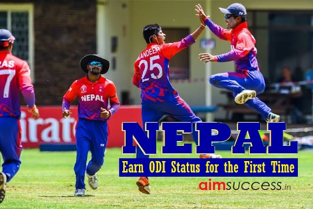 Nepal earn ODI status for the first time 17 March 2017 - Daily Current Affairs