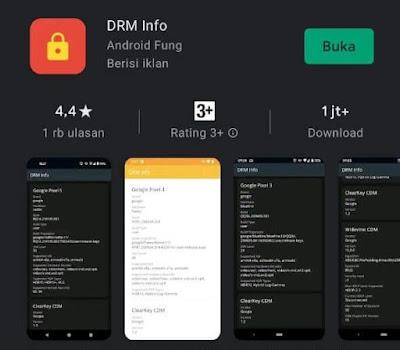 Aplikasi DRM Widevine