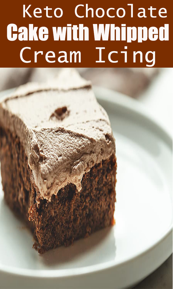 Keto Chocolate Cake with Whipped Cream Icing #Keto #Chocolate #Cake #with #Whipped #Cream #IcingKetoChocolateCakewithWhippedCreamIcing
