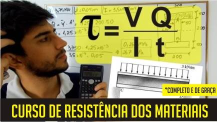 Curso completo de Resistência dos materiais (grátis)