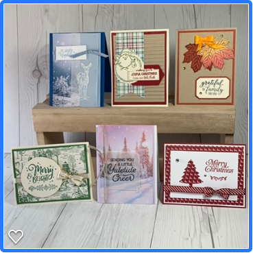 Stamped Sophisticates: Holiday Catalog Card Classes using