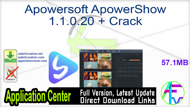 Apowersoft ApowerShow 1.1.0.20 + Crack