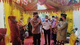 Kapolres Turun Langsung Cek Penerapan Prokes Resepsi Pernikahan Warga