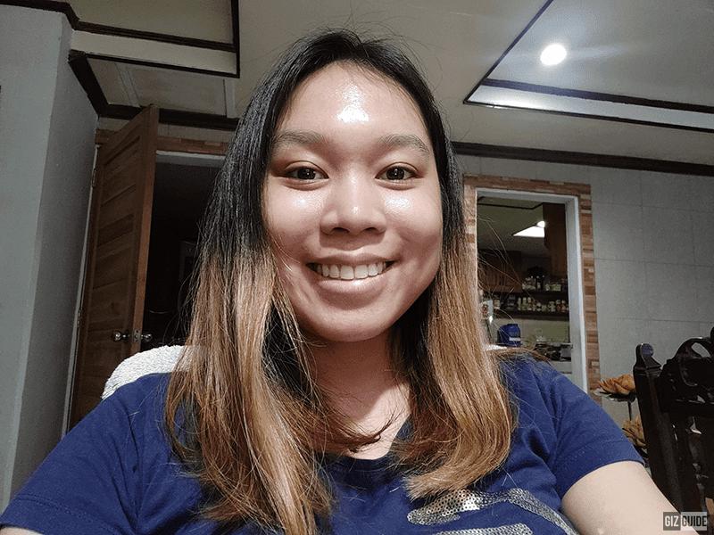 Indoor night selfie