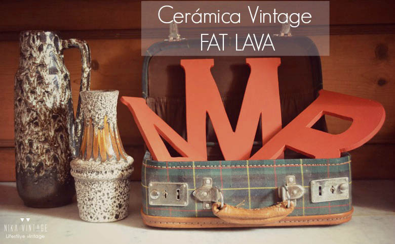 west germany, ceramica alemana, fat lava, lava, vintage, 50´s, 60´s, 70´s, decoracion, jarron, jarrones, tendencias