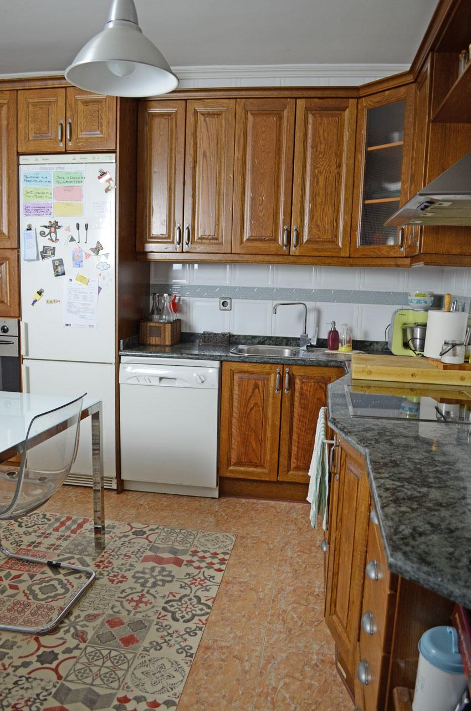 reforma cocina muebles rusticos