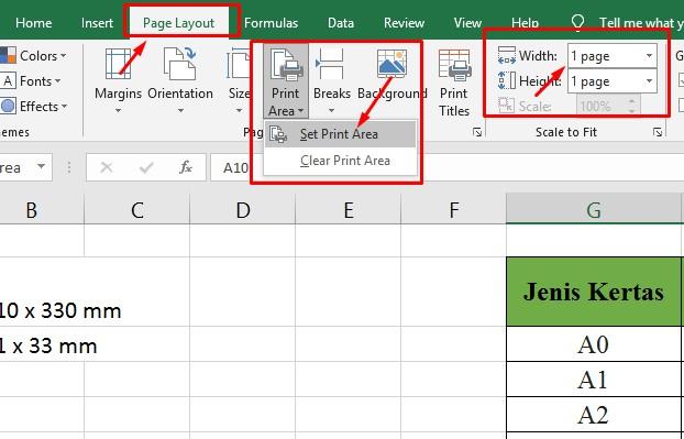 Cara Print Excel Agar Tidak Terpotong Menggunakan Set Print Area