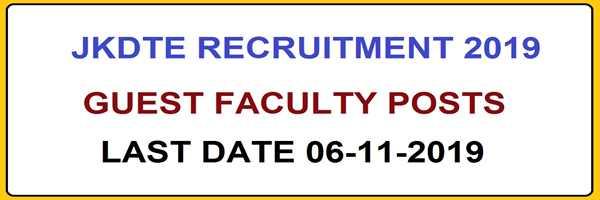 J&K Govt ITI Recruitment 2019