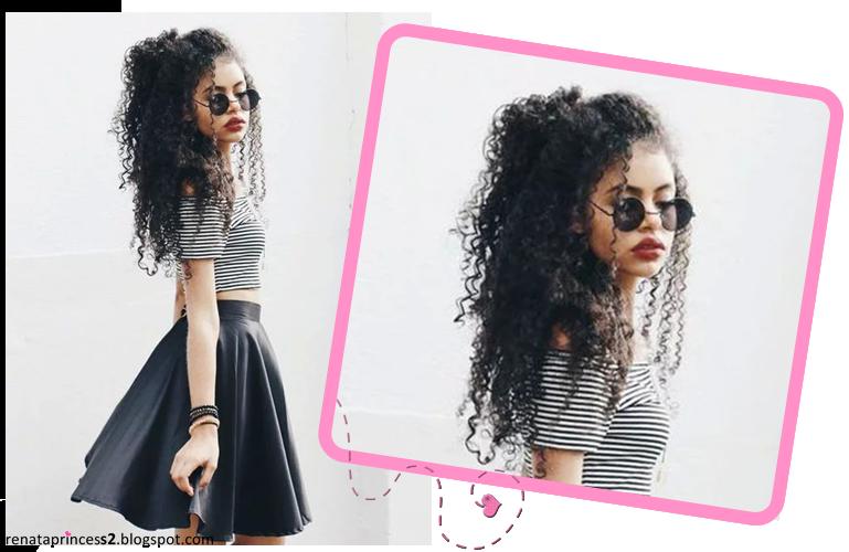 Blog Da Renata Princess 10 Penteados Para Cabelo Cacheado