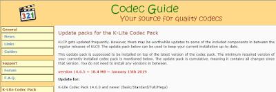 K-Lite Codec Pack 14.6.5 Update
