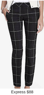 Sydney Fashion Hunter - She Wears The Pants - Express Windowpane Women's Work Pants