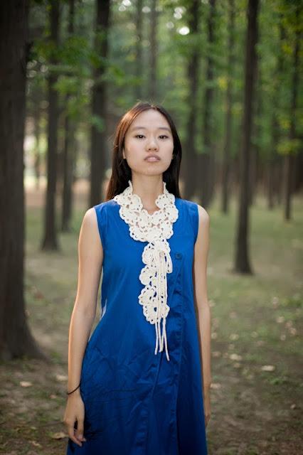 Bufanda Crochet Medias Flores Tutorial