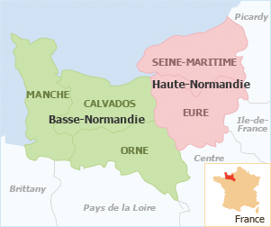 Carte de France: Carte de Basse Normandie