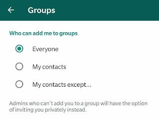 Cara membatasi undangan grub whatsApp