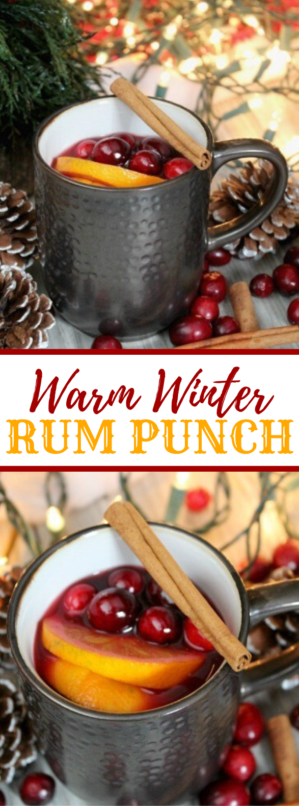 WARM WINTER (LOCAL) RUM PUNCH #cocktails #holidaydrink