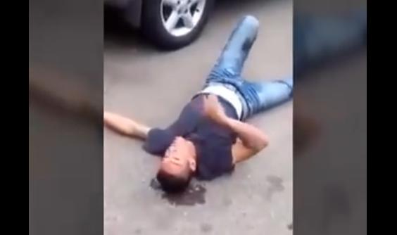 VIDEO Vecinos Justicieros balean a sujeto que asaltó a una mujer en Guadalajara