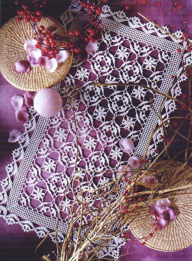 Crochet Lace - Square Motifs - Crochet Doily / Tablecloth