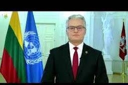 Inilah Pidato Presiden Lithuania, Gitanas Nauseda Saat Berbicara di Debat Umum PBB ke 75