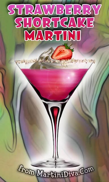 Strawberry Shortcake Martini Cocktail Recipe