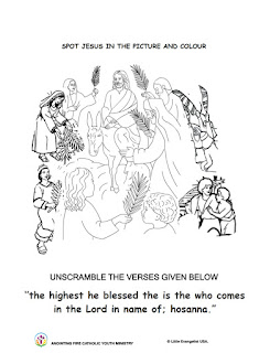 Palm Sunday Coloring Page for kids