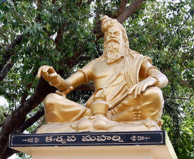 Kashyapa muni statue in Kovvuru, Andhra Pradesh