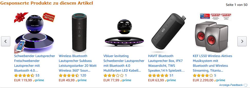 UPPEL Schwebender Lautsprecher: Freischwebender Lautsprecher mit Klang Bluetooth 4.1 Multifarben LED 360 Grad Rotierende Soundeffekt (Black)