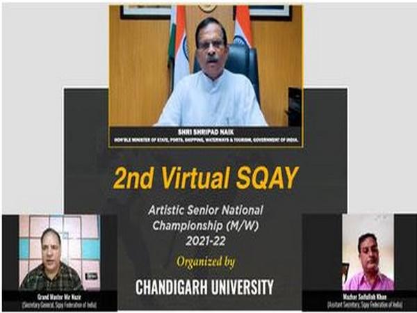 2nd Senior National Sqay Championship inaugurated by Union Minister of State Shripad Naik at Chandigarh University