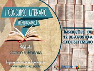 Última semana de inscrições para o I Prêmio Guaracuí de Literatura