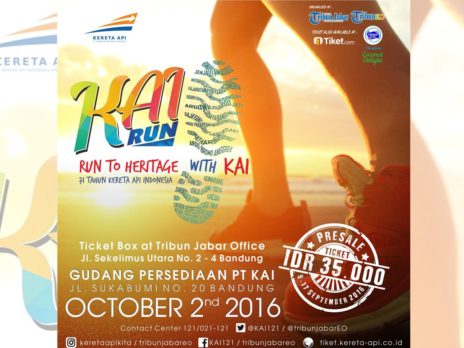 Event KAI Run 2 Oktober 2016 Bandung