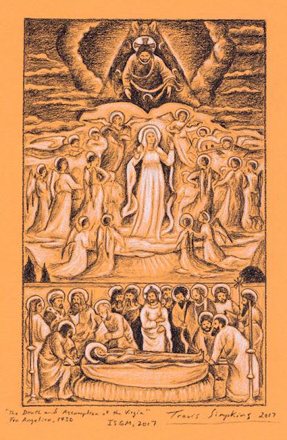 The Death of the Virgin. Fra Angelico. Isabella Stewart Gardner Museum. by Travis Simpkins