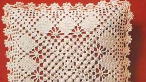 Patrón de Almohadón Crochet de cuatro triángulos