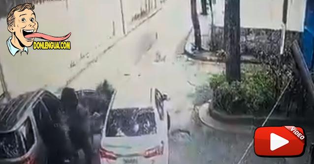 Video de un secuestro en Los Chorros dejó aterrorizados a todos los vecinos