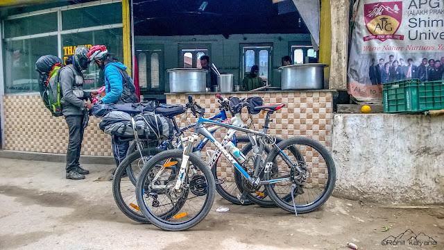 Mandi to Prashar lake winter cycling