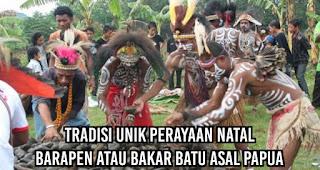 Tradisi Unik Perayaan Natal Barapen atau Bakar Batu asal Papua