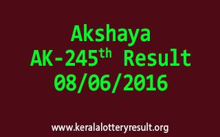 Akshaya Lottery AK 245 Results 8-6-2016