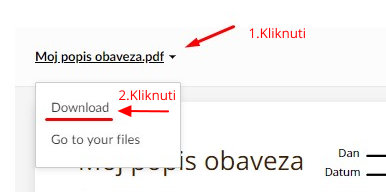 POKLON PDF OBRAZAC - MOJ POPIS OBAVEZA