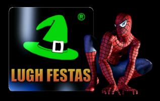 Logo Lugh Festas com o Homem Aranha